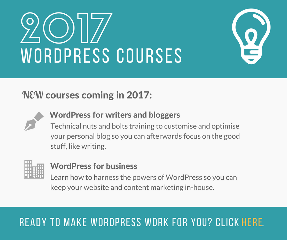 WordPress training courses 2017 with Kaboo Media